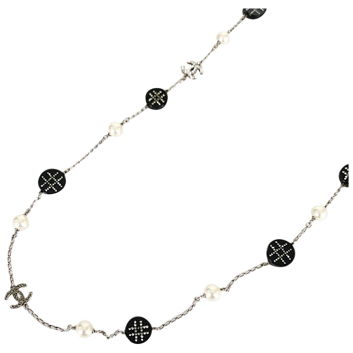 Chanel - Collier   pour femme en metal - argente