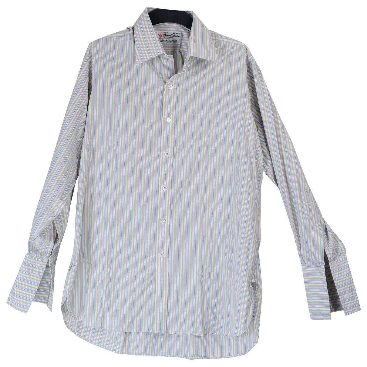 Turnbull & Asser N Blue Cotton Shirts for Men L International