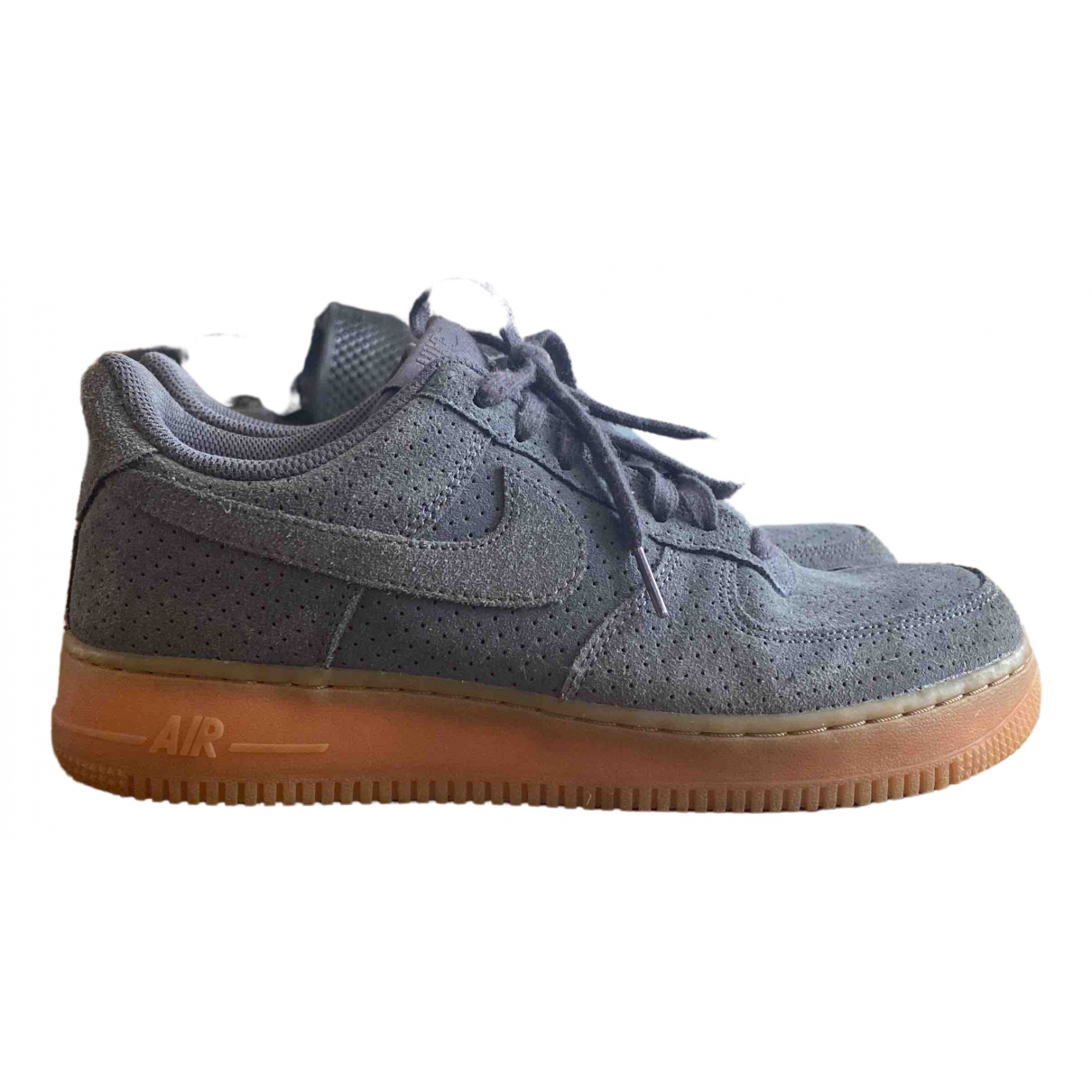 Nike Air Force 1 Grey Suede Trainers for Women 40 EU