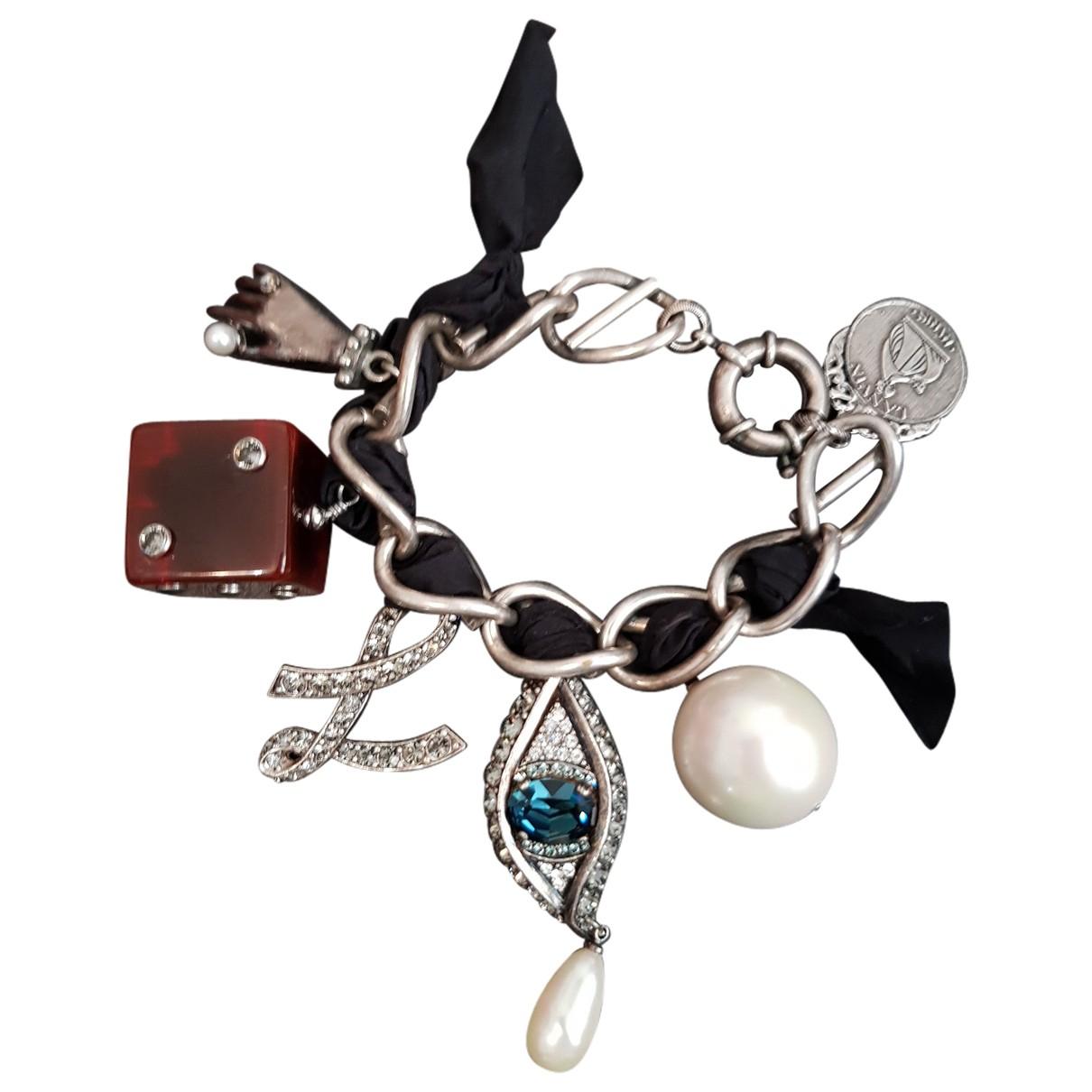 Lanvin - Bracelet   pour femme en metal - argente