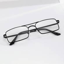 Men Top Bar Square Glasses