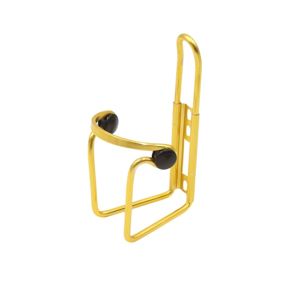 Gold Tone Aluminum Alloy Bike Bicycle Cycling Drink Water Bottle Rack Holder - Gold Tone (Gold Tone)