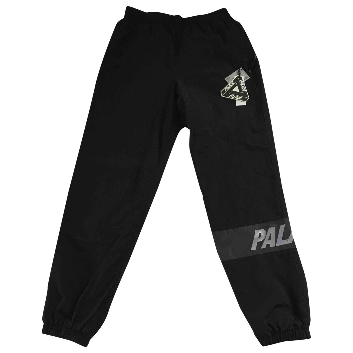 Pantalones en Poliester Negro Palace