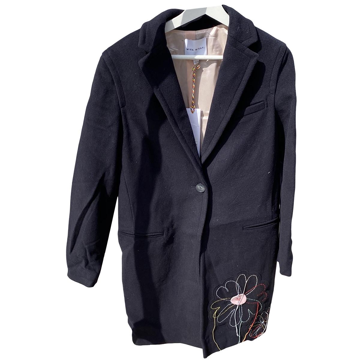 Mira Mikati \N Blue Wool coat for Women 38 FR