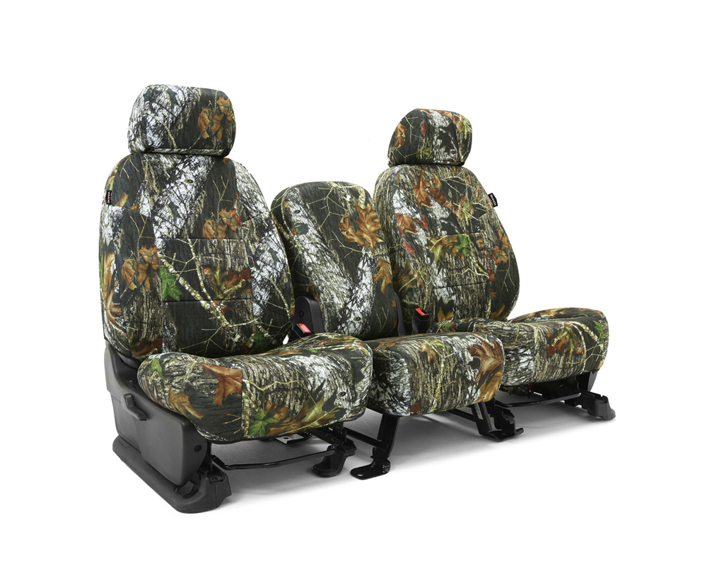 Coverking CSCMO01NS9764 Skanda Custom Seat Covers 1 Row Neosupreme Mossy Oak Break Up Solid Rear Nissan Frontier 2012-2021