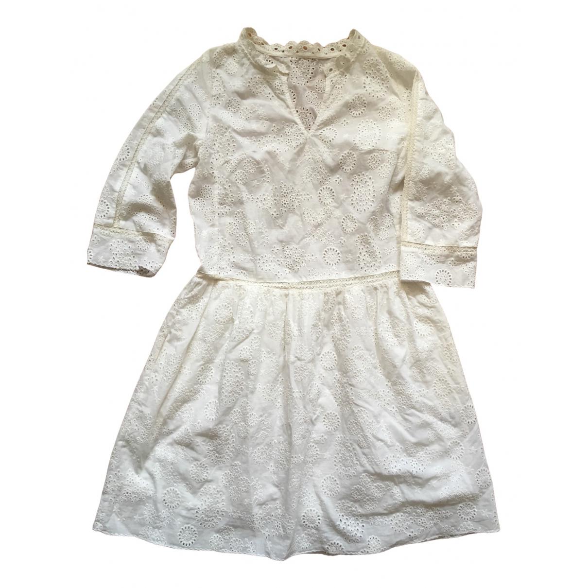 Zadig & Voltaire \N Kleid in  Weiss Baumwolle