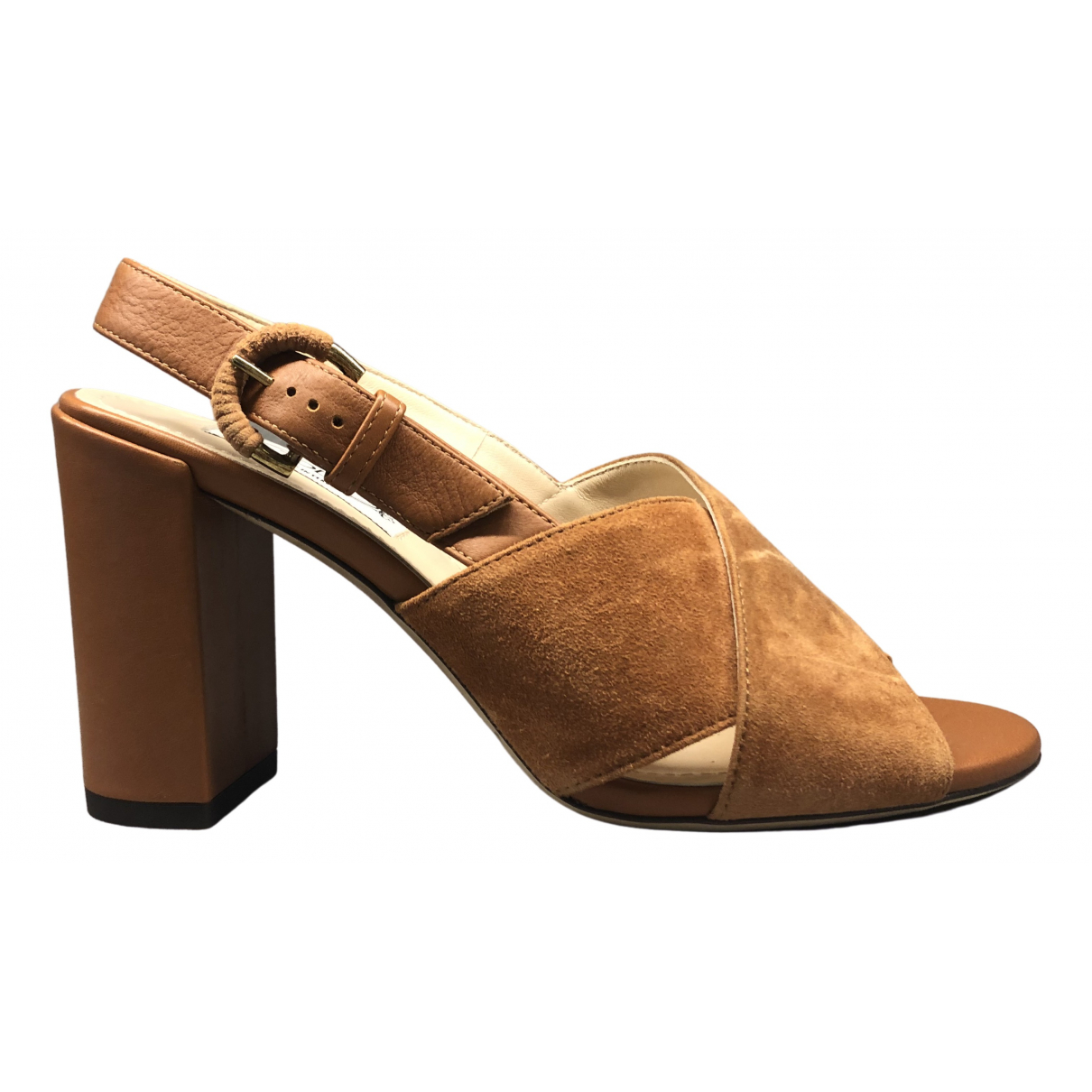 Tod's \N Camel Suede Sandals for Women 37 EU