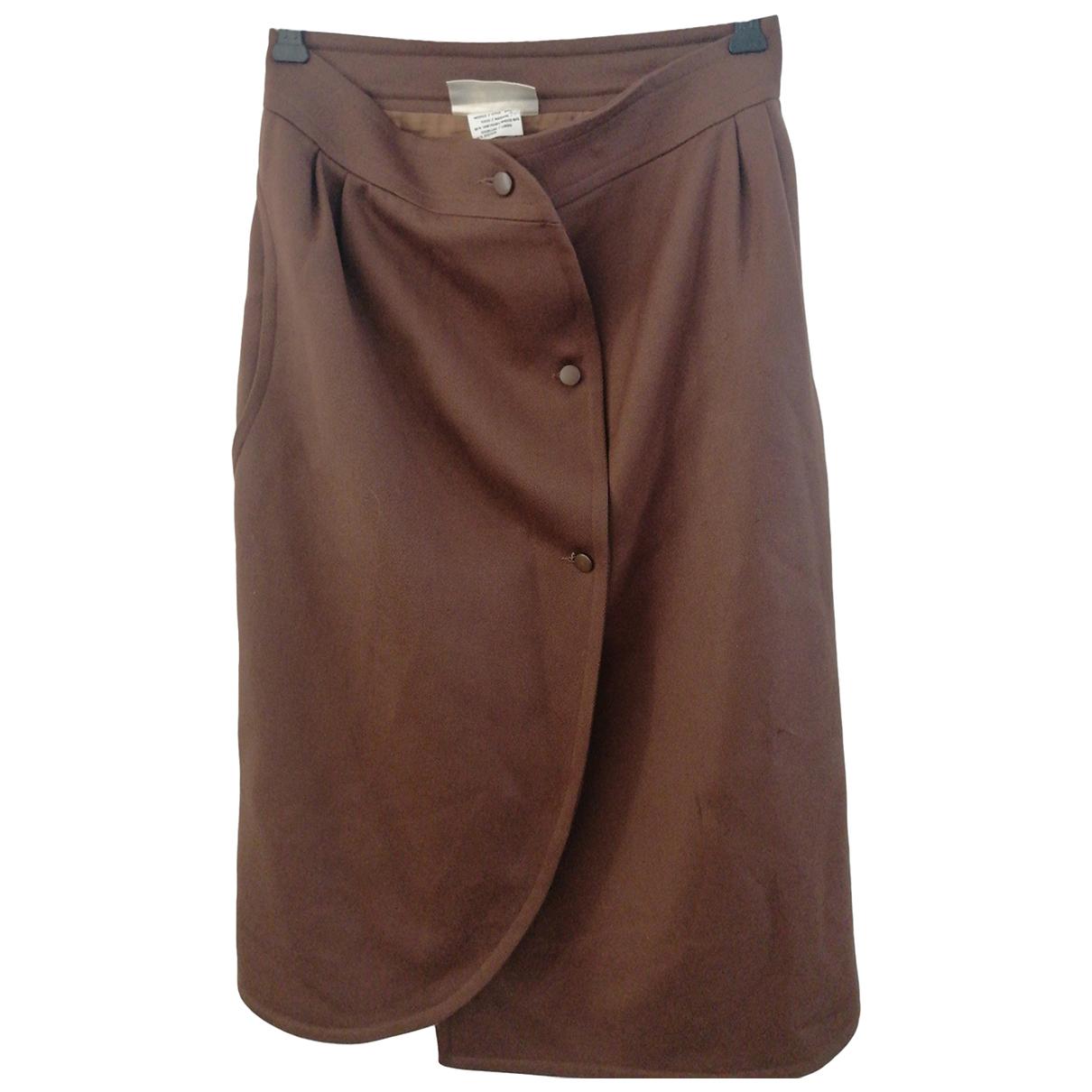 Courreges - Jupe   pour femme en coton - marron