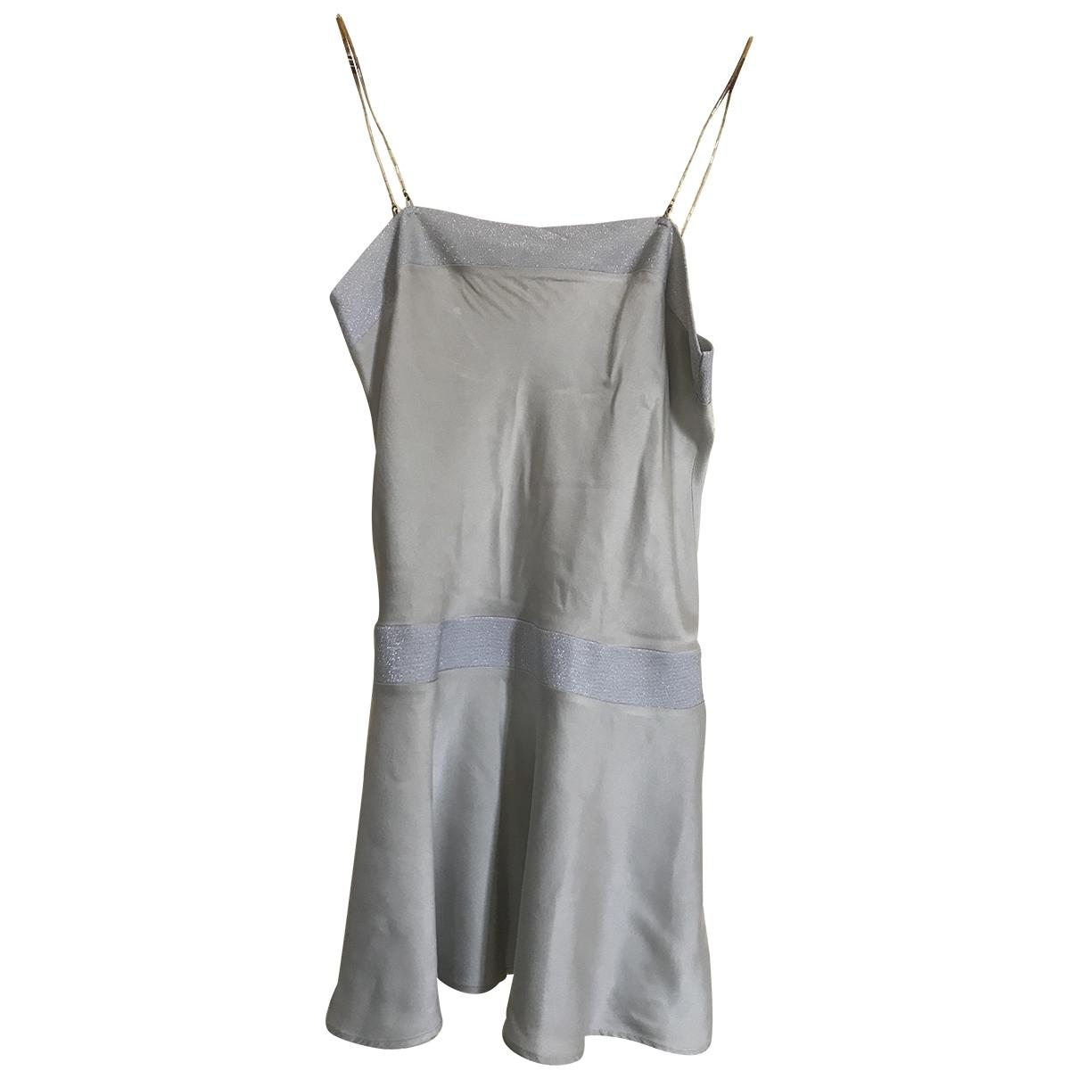 Rochas \N Grey Silk dress for Women 40 FR
