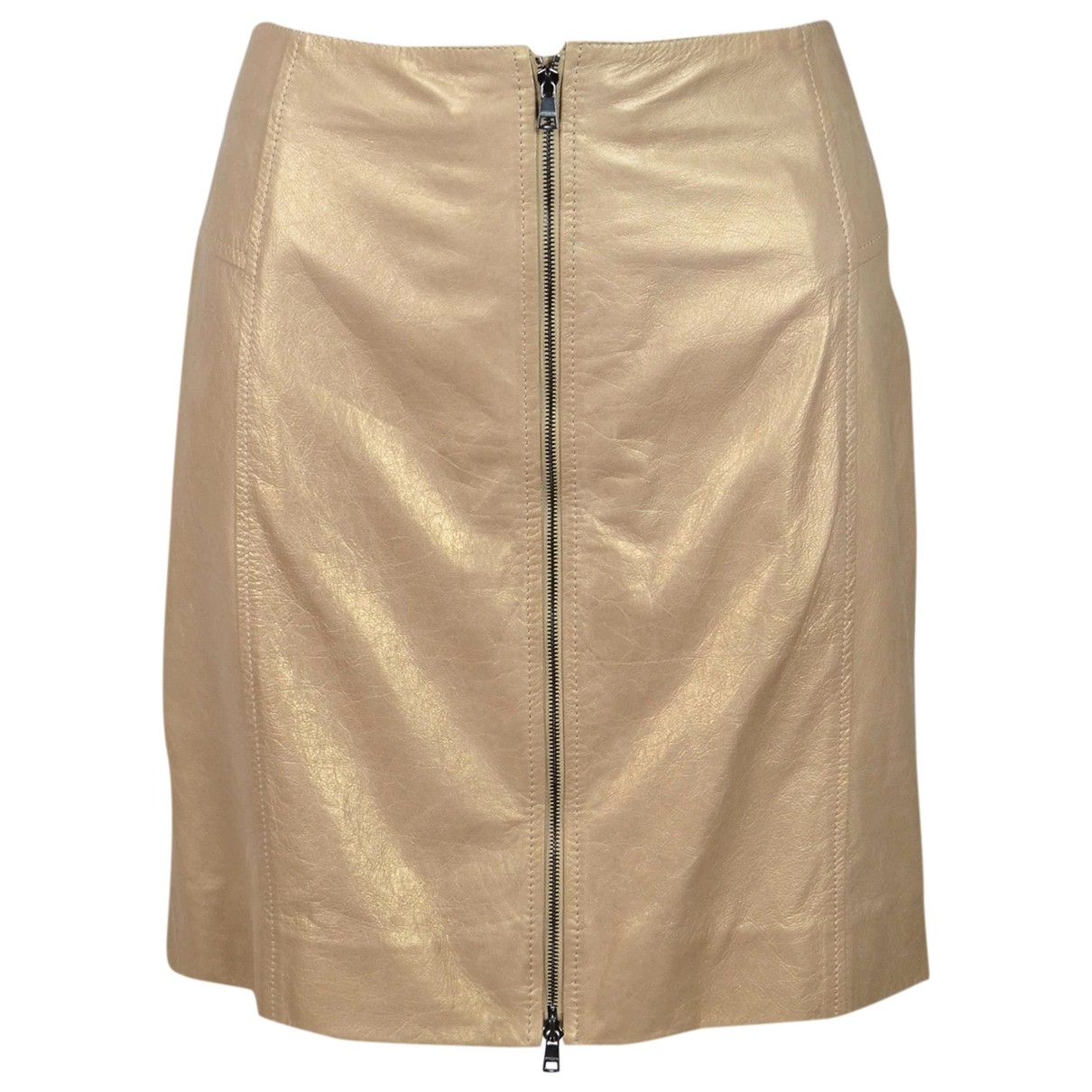 Marc Cain \N Beige Leather skirt for Women 42 IT