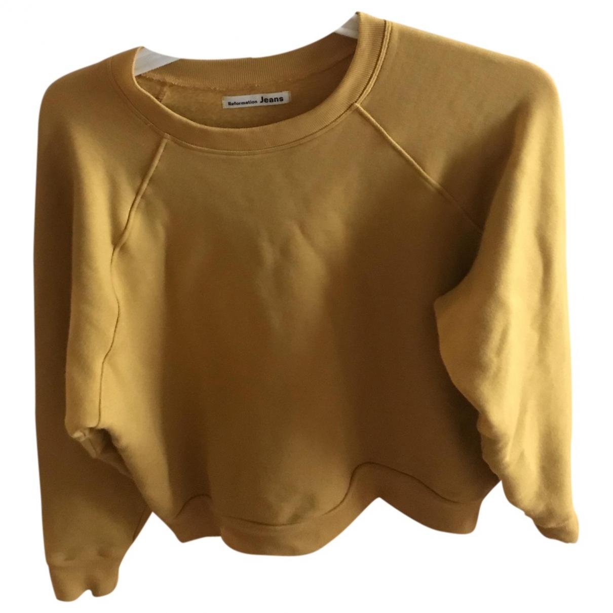 Reformation \N Pullover in  Gelb Baumwolle