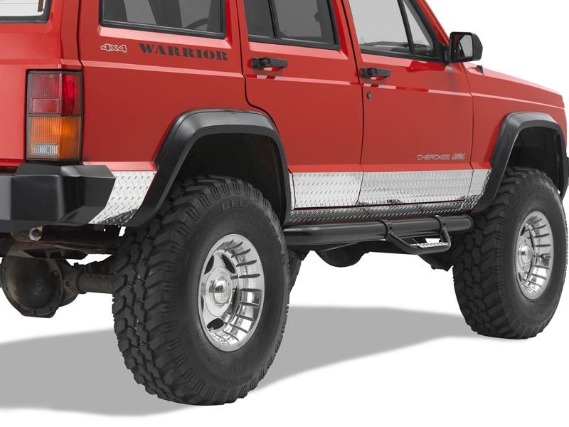 Warrior Products 935 Sideplates For 4 Door Model Aluminum Diamond Plate Jeep XJ Cherokee 84-01