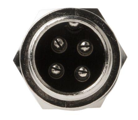 RS PRO Connector, 4 contacts Panel Mount Miniature Socket, Crimp