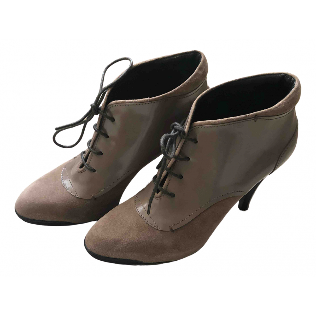 Tod's \N Beige Suede Ankle boots for Women 36 IT