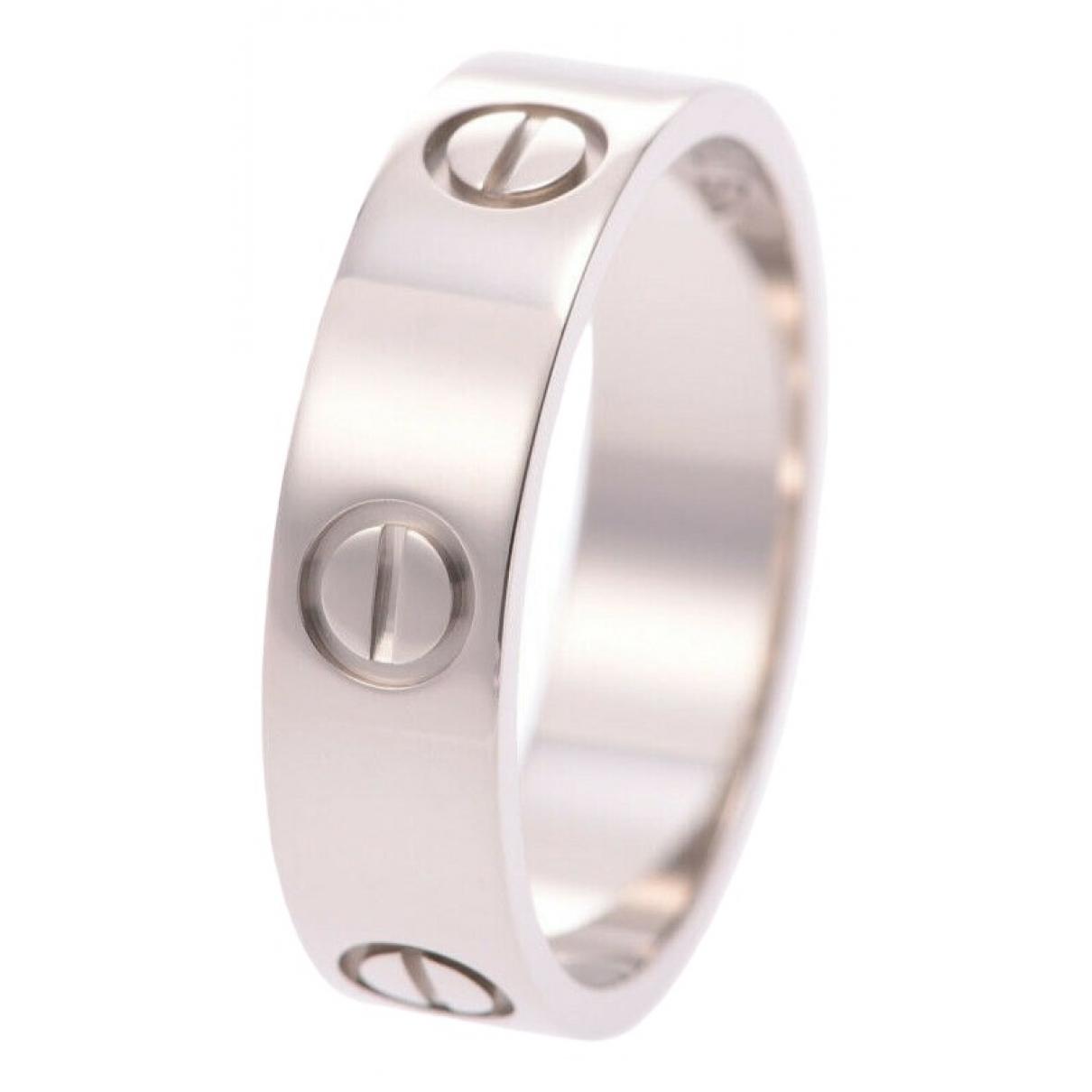 Cartier Love Ring in  Silber Weissgold