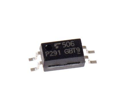Toshiba , TLP291(GB DC Input Transistor Output Optocoupler, Surface Mount, 4-Pin SO4 (175)