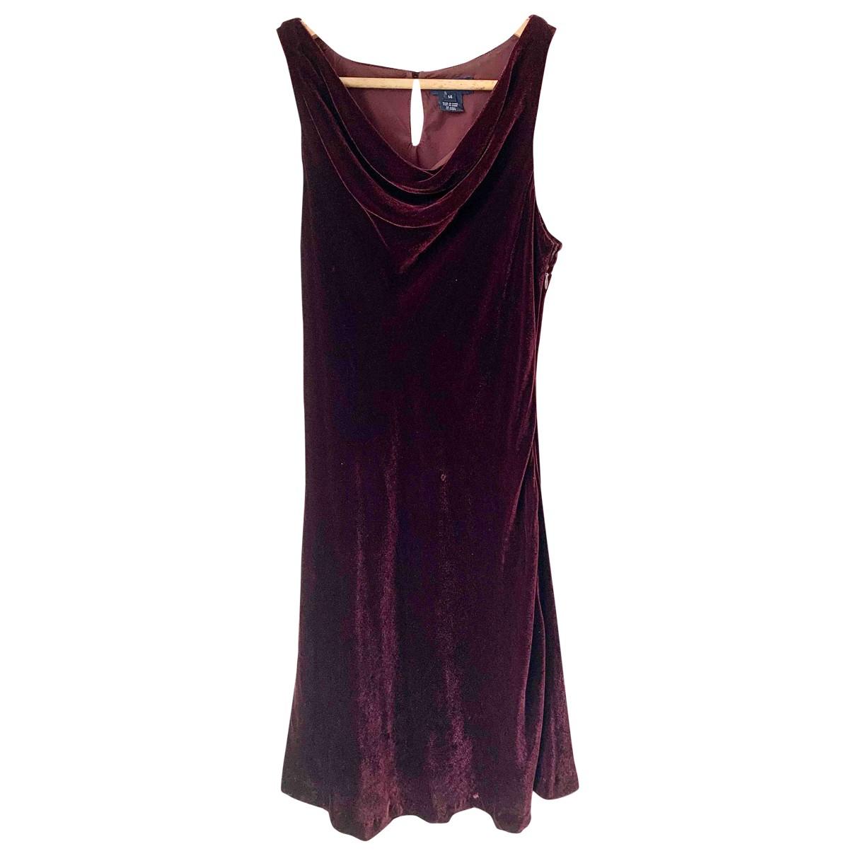 Ralph Lauren \N Kleid in  Bordeauxrot Samt