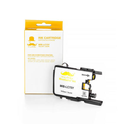 Compatible Brother MFC-J435W jaune cartouche d'encre de Moustache, haut rendement