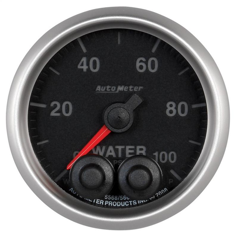 AutoMeter GAUGE; WATER PRESS; 2 1/16in.; 100PSI; STEPPER MOTOR W/PEAK/WARN; ELITE