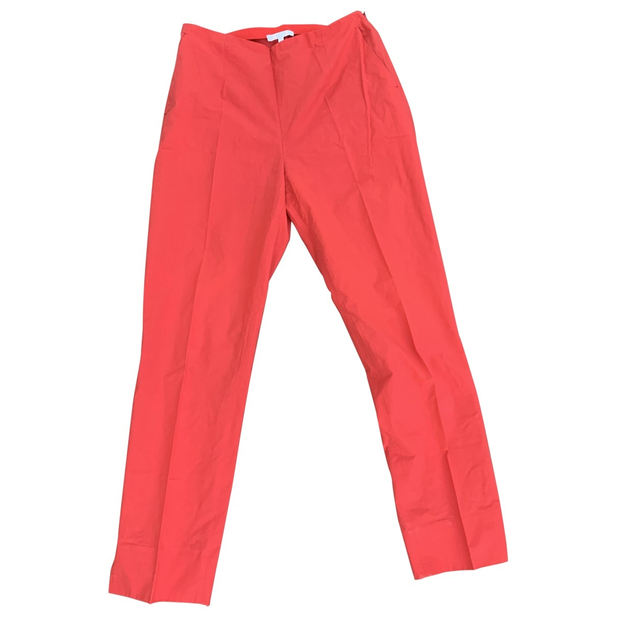 Paule Ka \N Red Cotton Trousers for Women 38 FR
