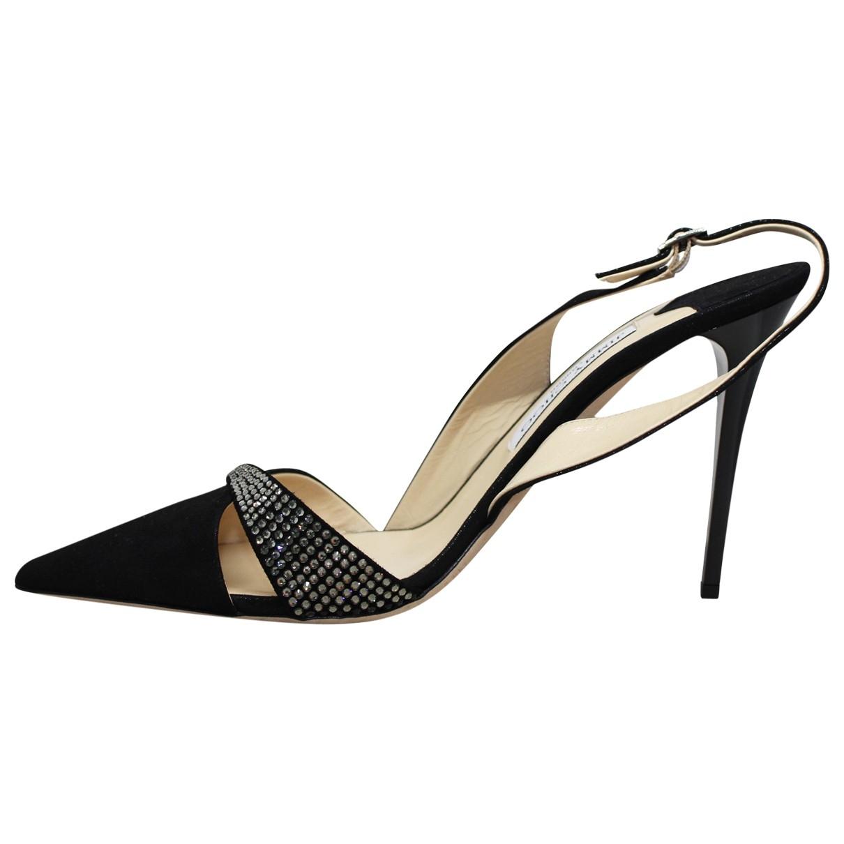 Jimmy Choo \N Black Cloth Heels for Women 40 EU