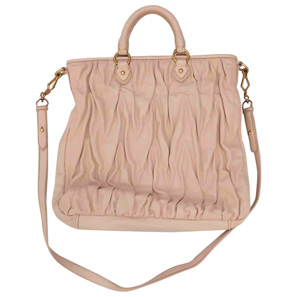 Miu Miu Matelassé Pink Leather handbag for Women \N