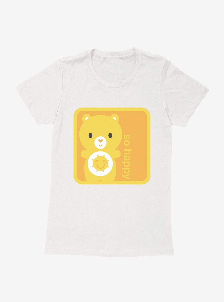 Care Bears Cartoon Funshine So Happy Fill Womens T-Shirt