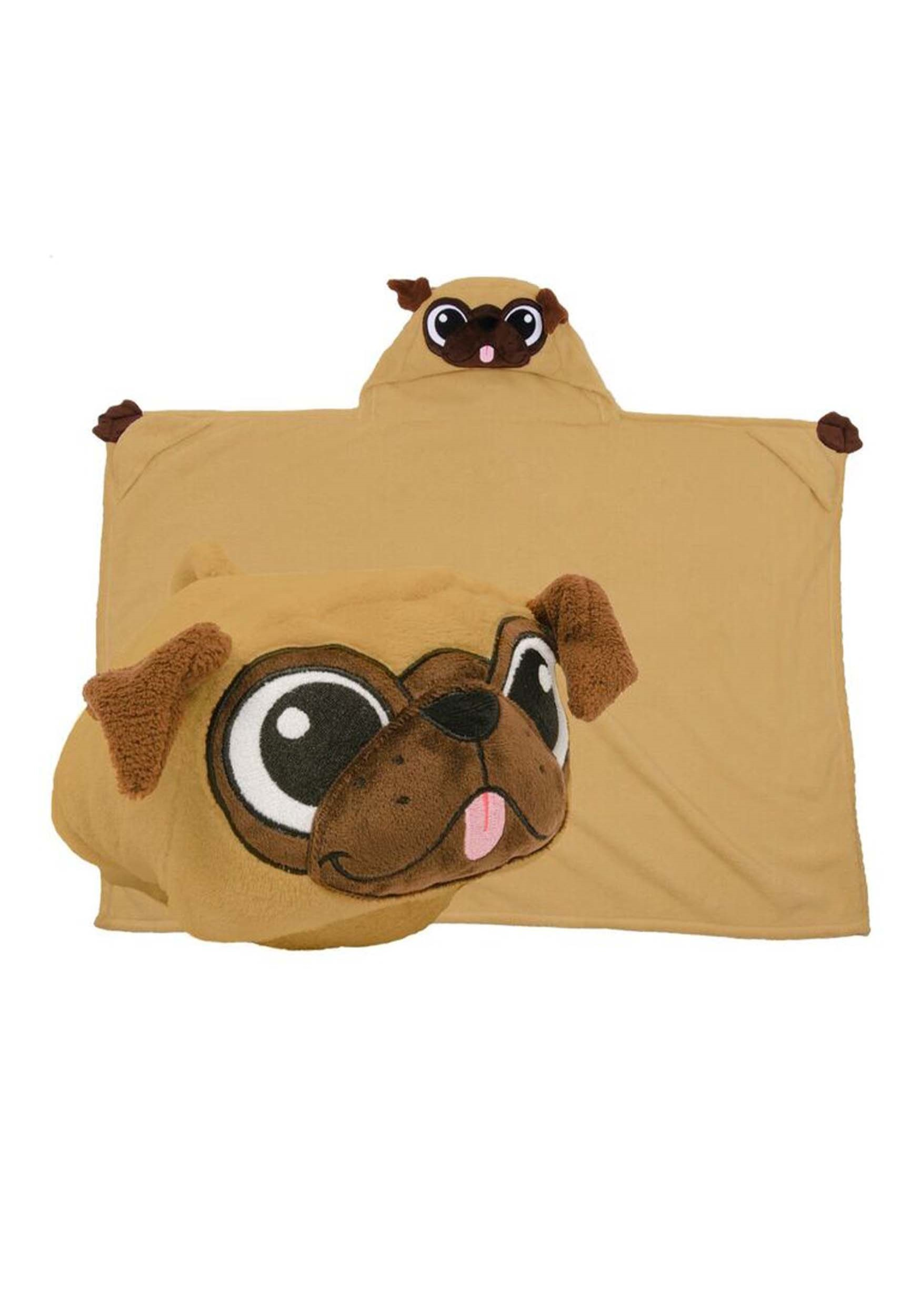 Pickle the Pug Comfy Critter Costume Blanket