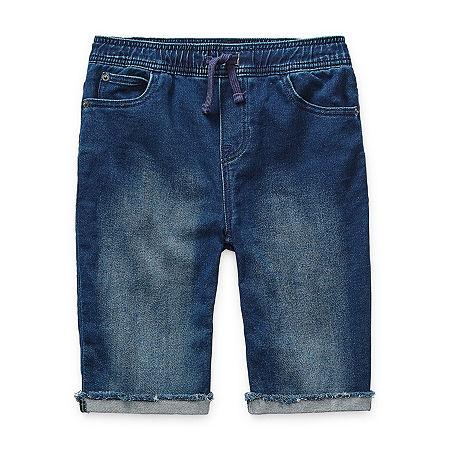 Arizona Little & Big Boys Cinched Jogger Short, X-small (6-7) , Blue