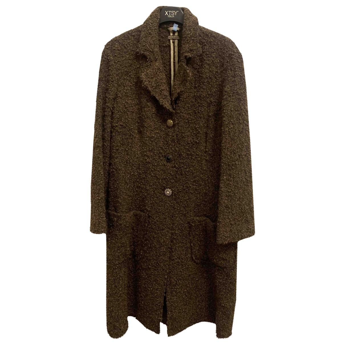 Maliparmi N Brown Wool coat for Women 46 IT