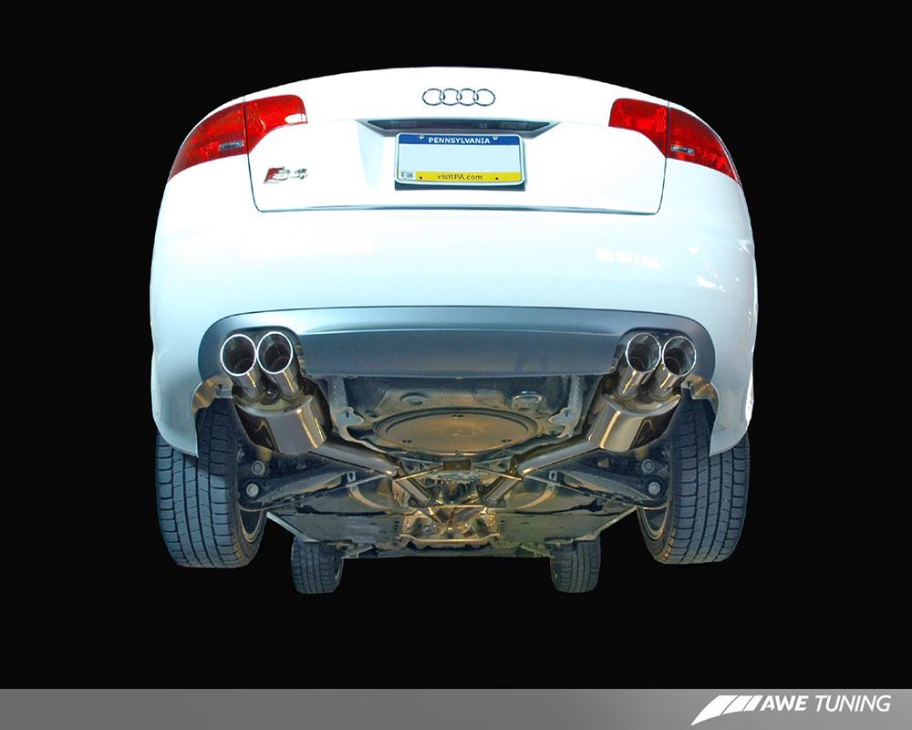 AWE Tuning 3015-43016 Touring Edition Exhaust System Diamond Black Tips Audi S4 B7 06-08