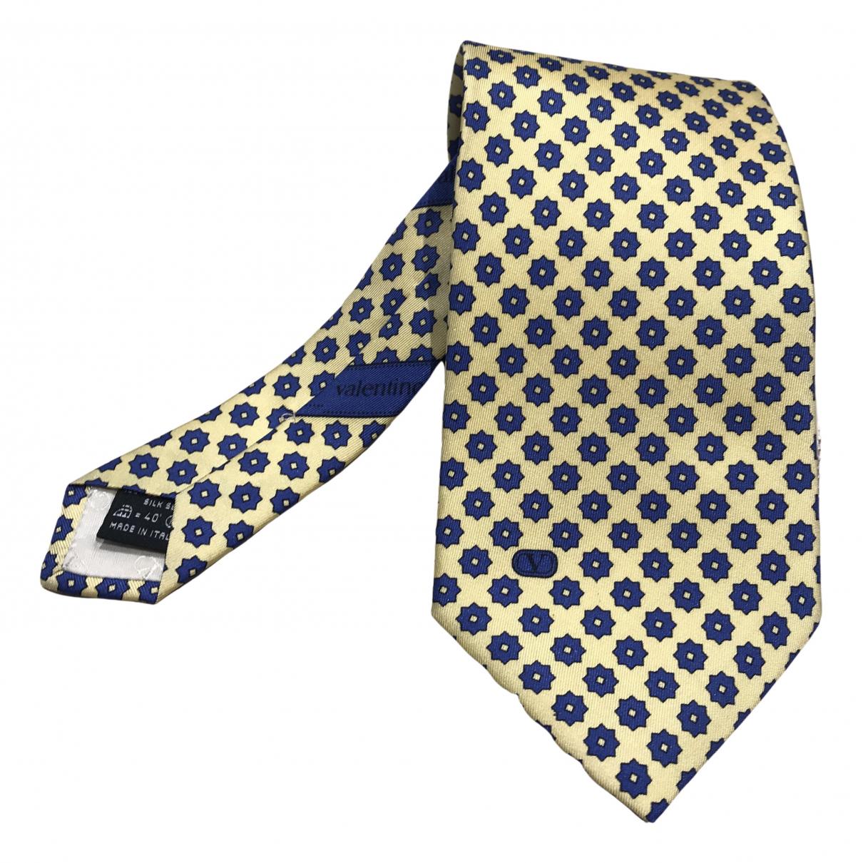 Valentino Garavani - Cravates   pour homme en soie - jaune