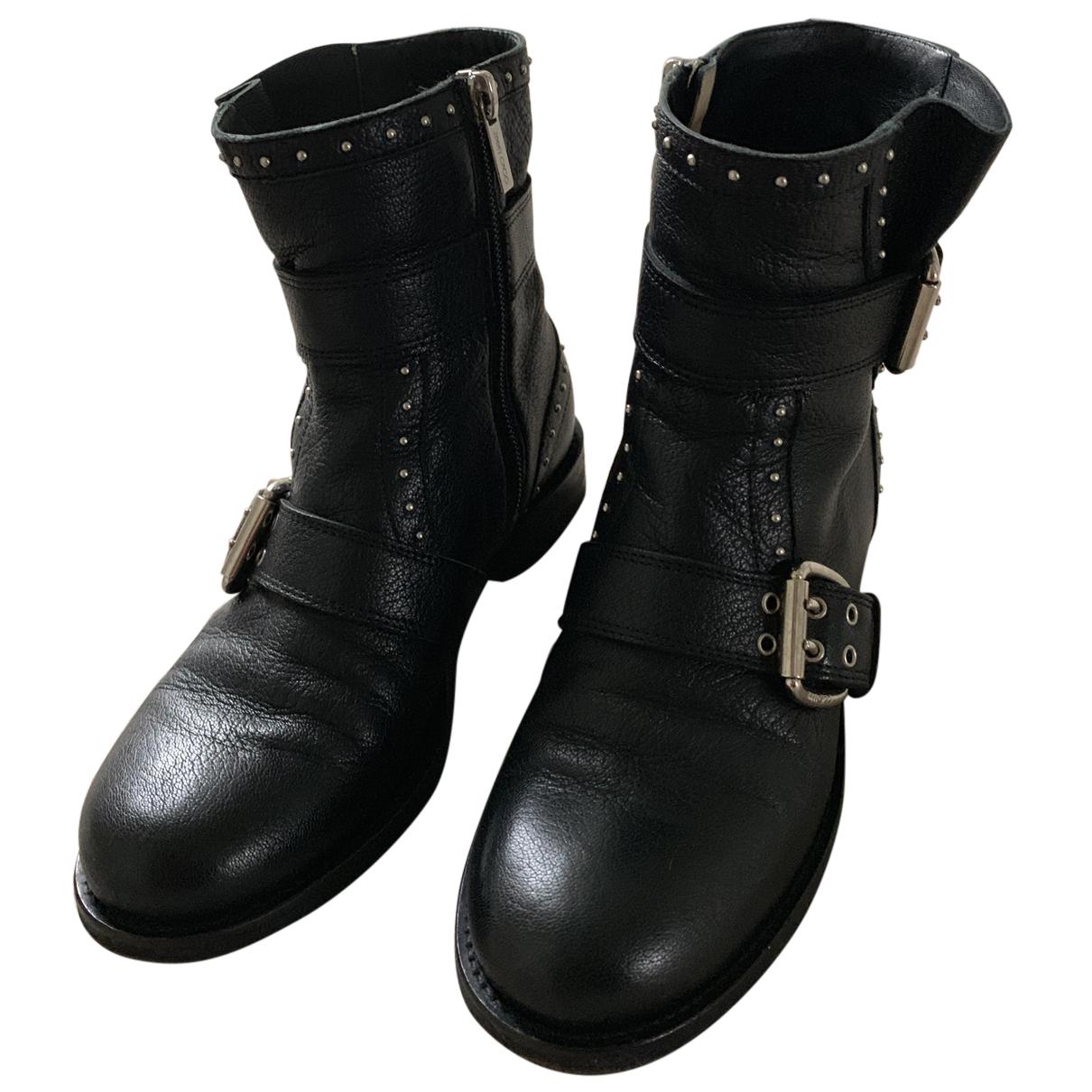 Jimmy Choo \N Stiefeletten in  Schwarz Leder