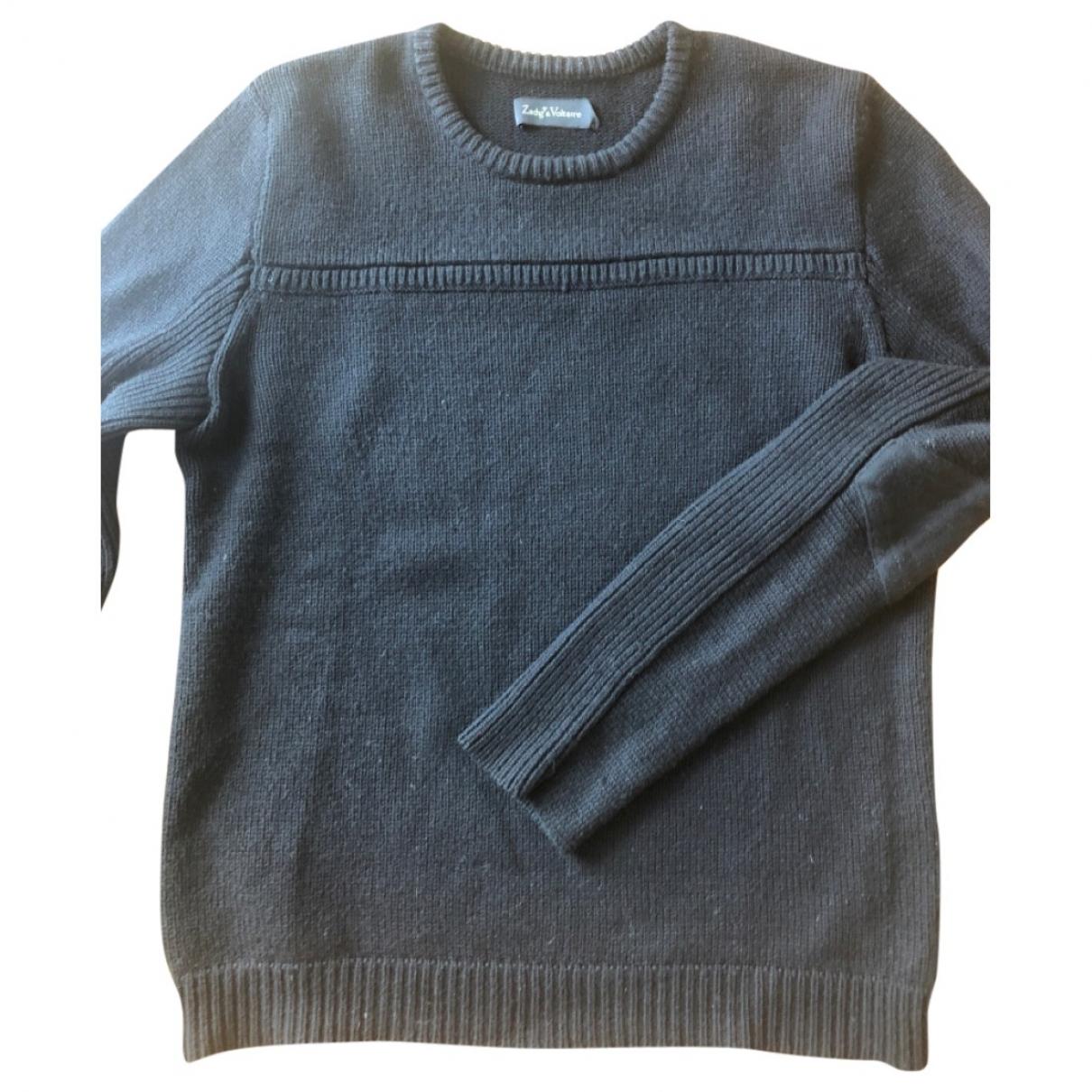 Zadig & Voltaire \N Pullover.Westen.Sweatshirts  in  Schwarz Wolle