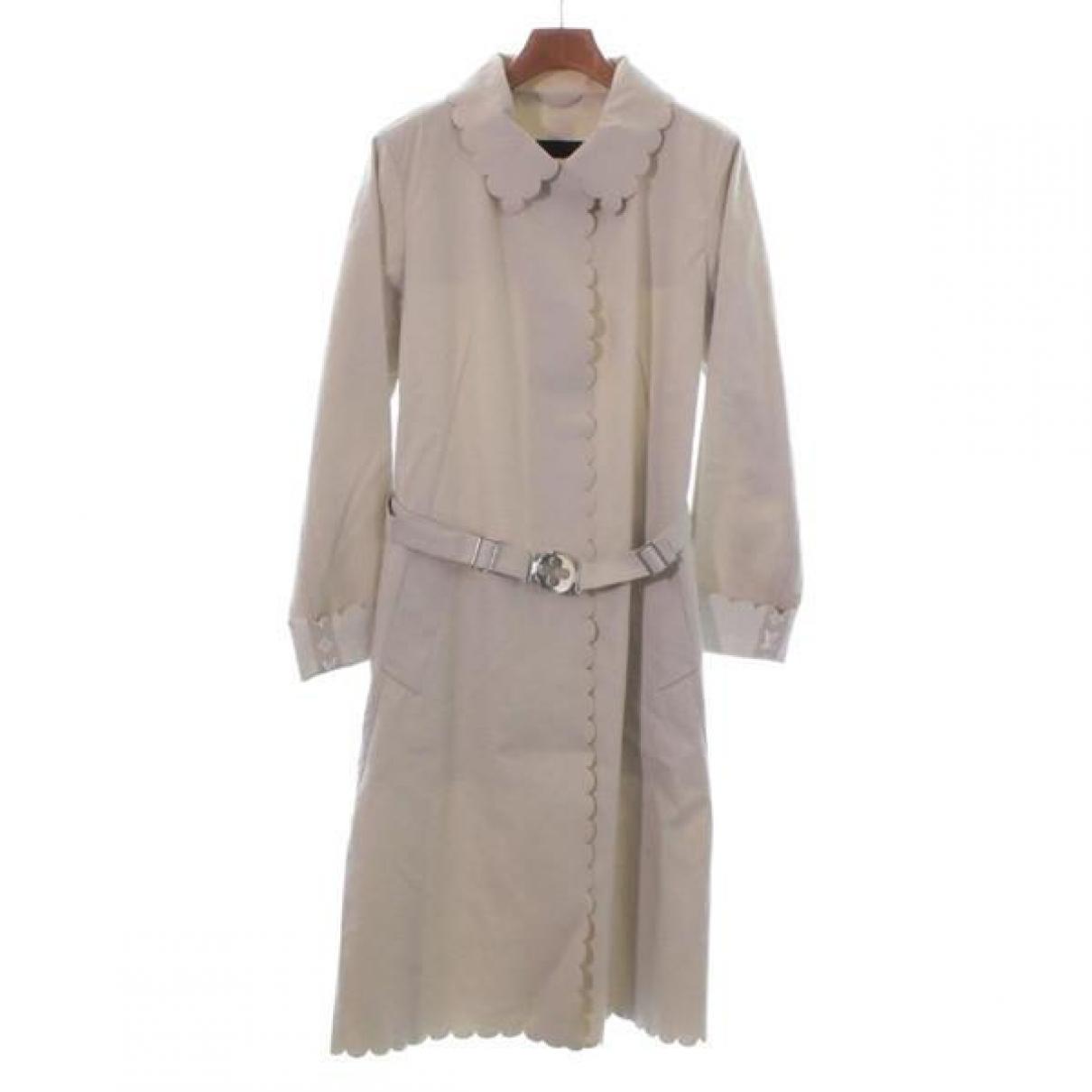 Louis Vuitton - Trench   pour femme en coton - beige