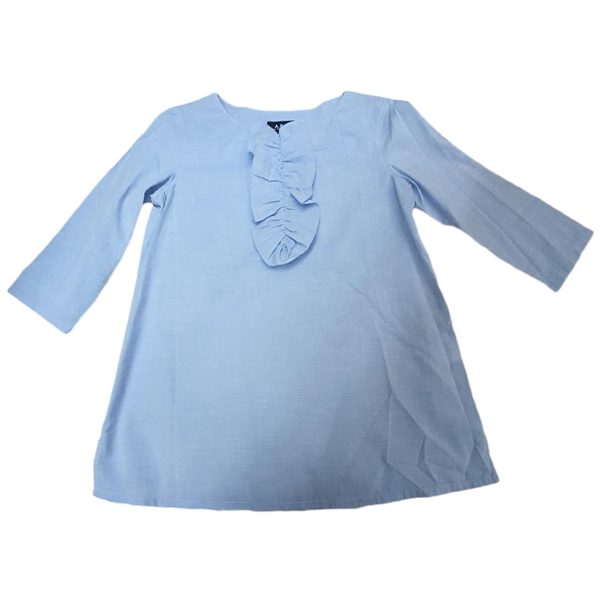 Apc \N Top in  Blau Baumwolle
