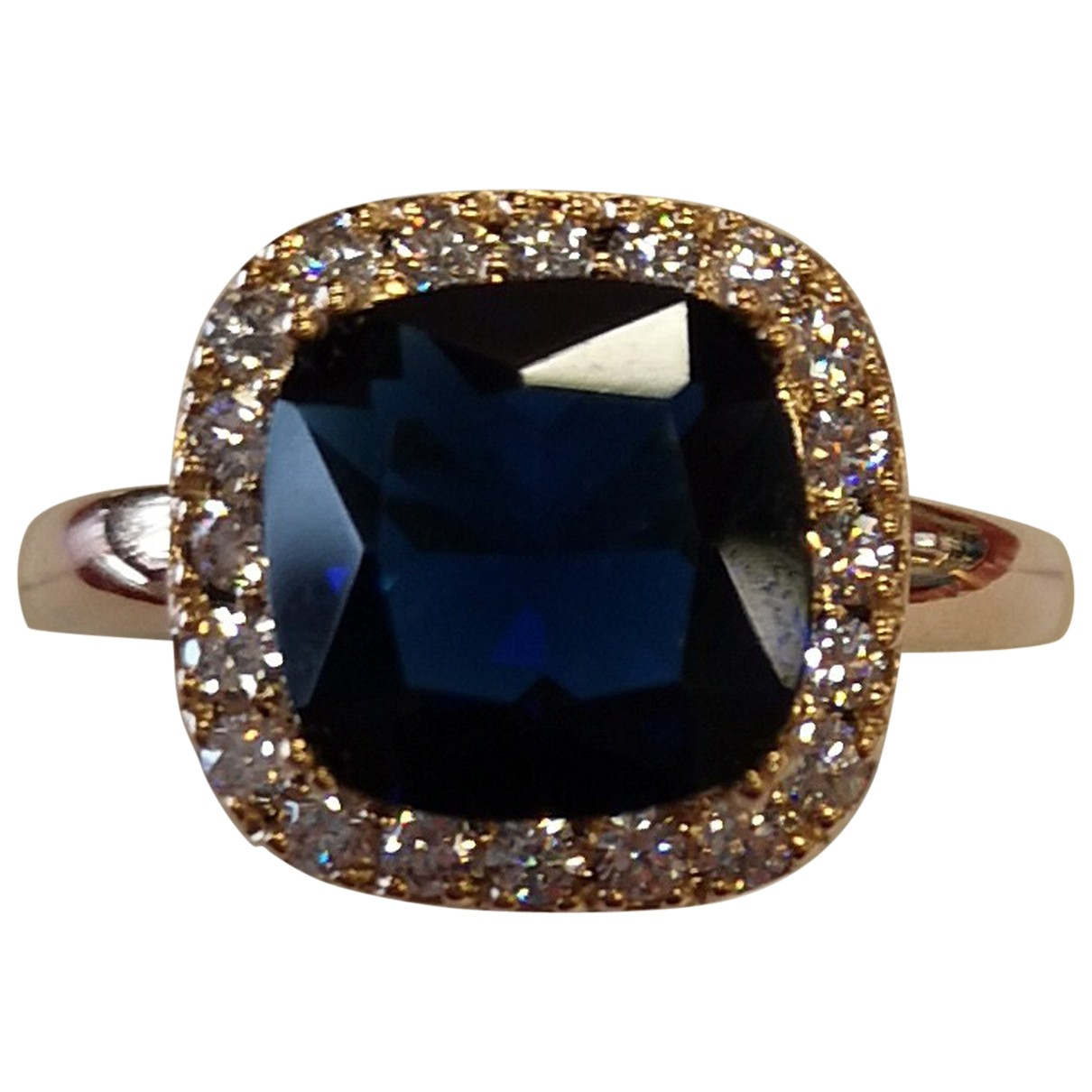 Non Signé / Unsigned N Yellow Gold plated ring for Women 60 MM
