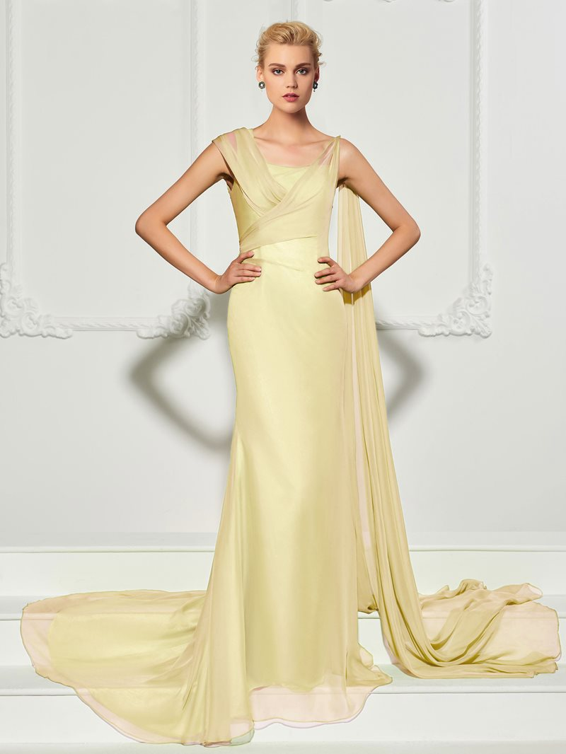 Ericdress Unique Floor Length Long Mermaid Evening Dress With Train
