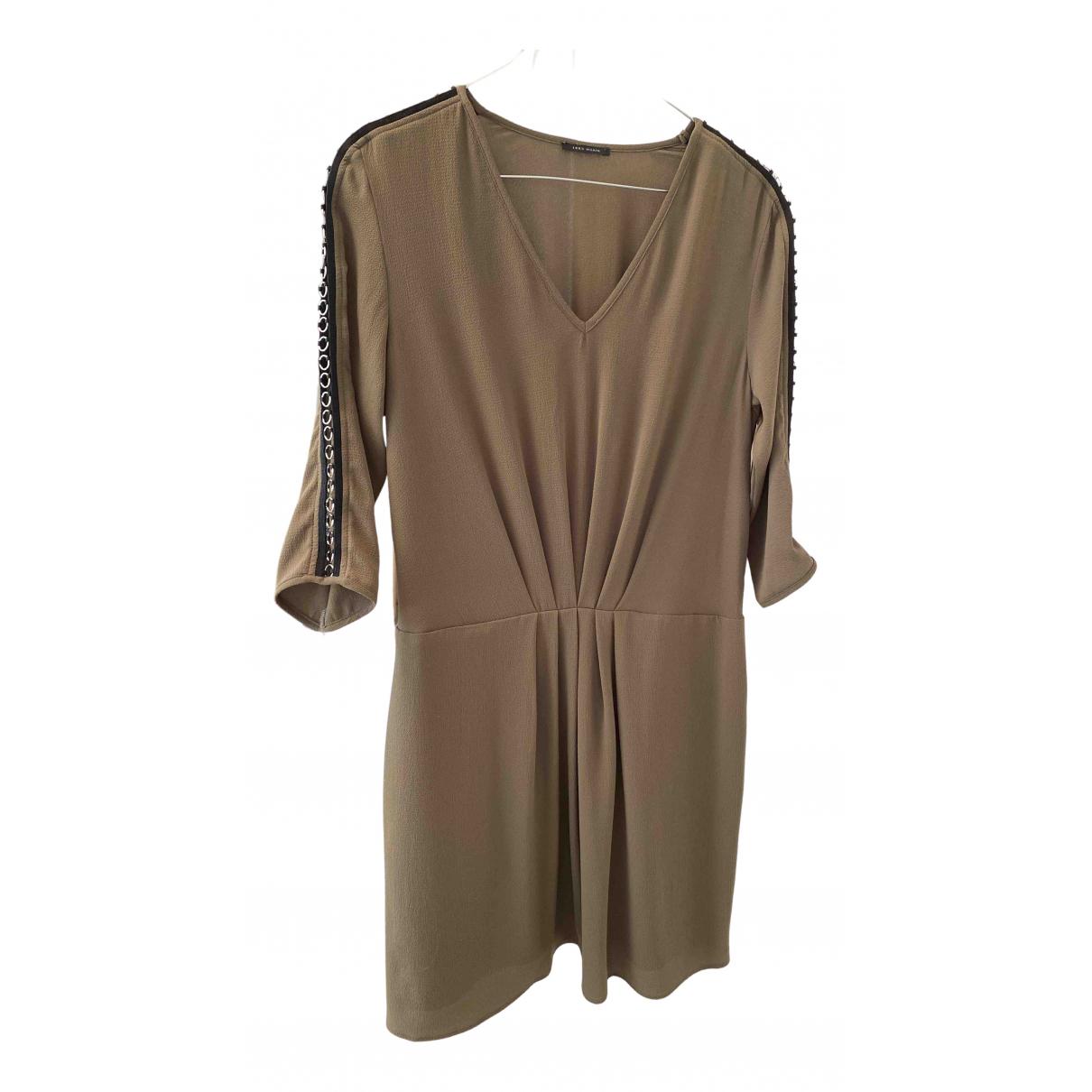 Ikks \N Kleid in  Khaki Polyester