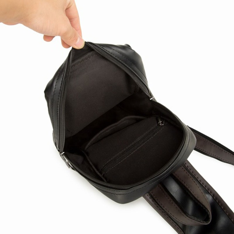 Ericdress Belt-Decorated PU Plain Backpacks