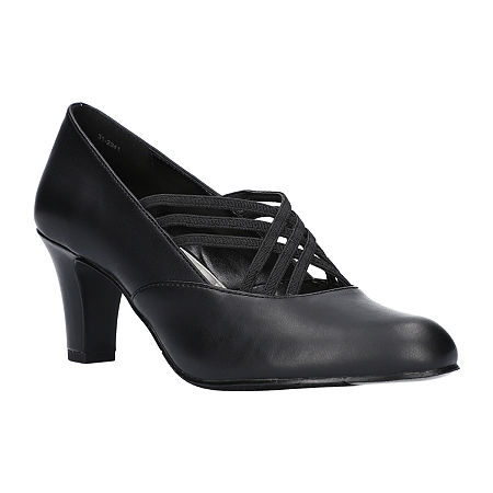 Easy Street Womens Rumer Pumps Spike Heel, 7 1/2 Wide, Black