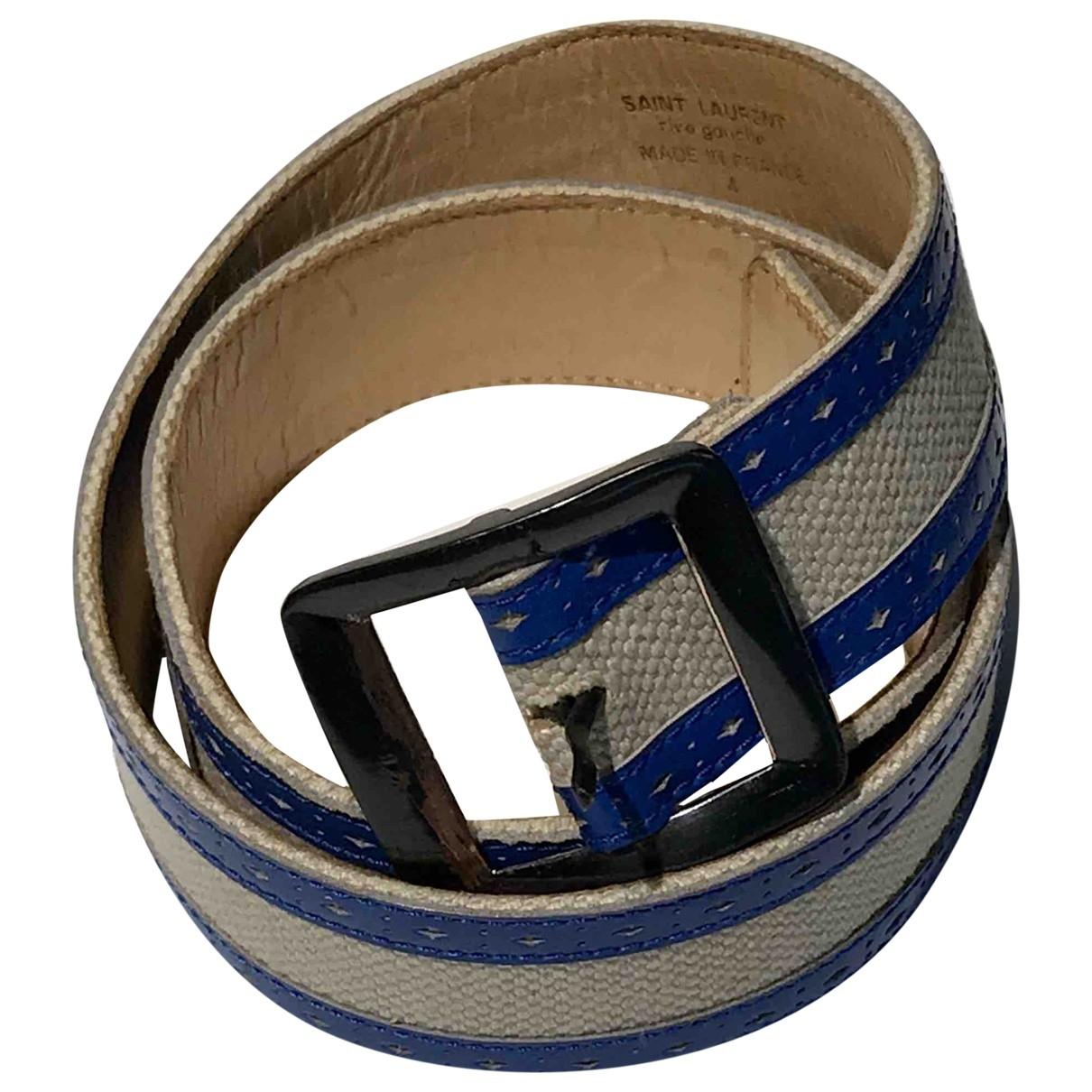 Cinturon de Lona Yves Saint Laurent