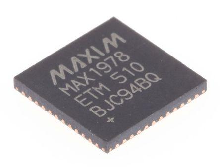 Maxim Integrated MAX1978ETM+, Temperature Sensor -40 → +85 °C ±10% Analogue, 48-Pin TQFN (43)