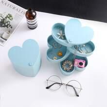 1pc Heart Shaped Jewelry Storage Box