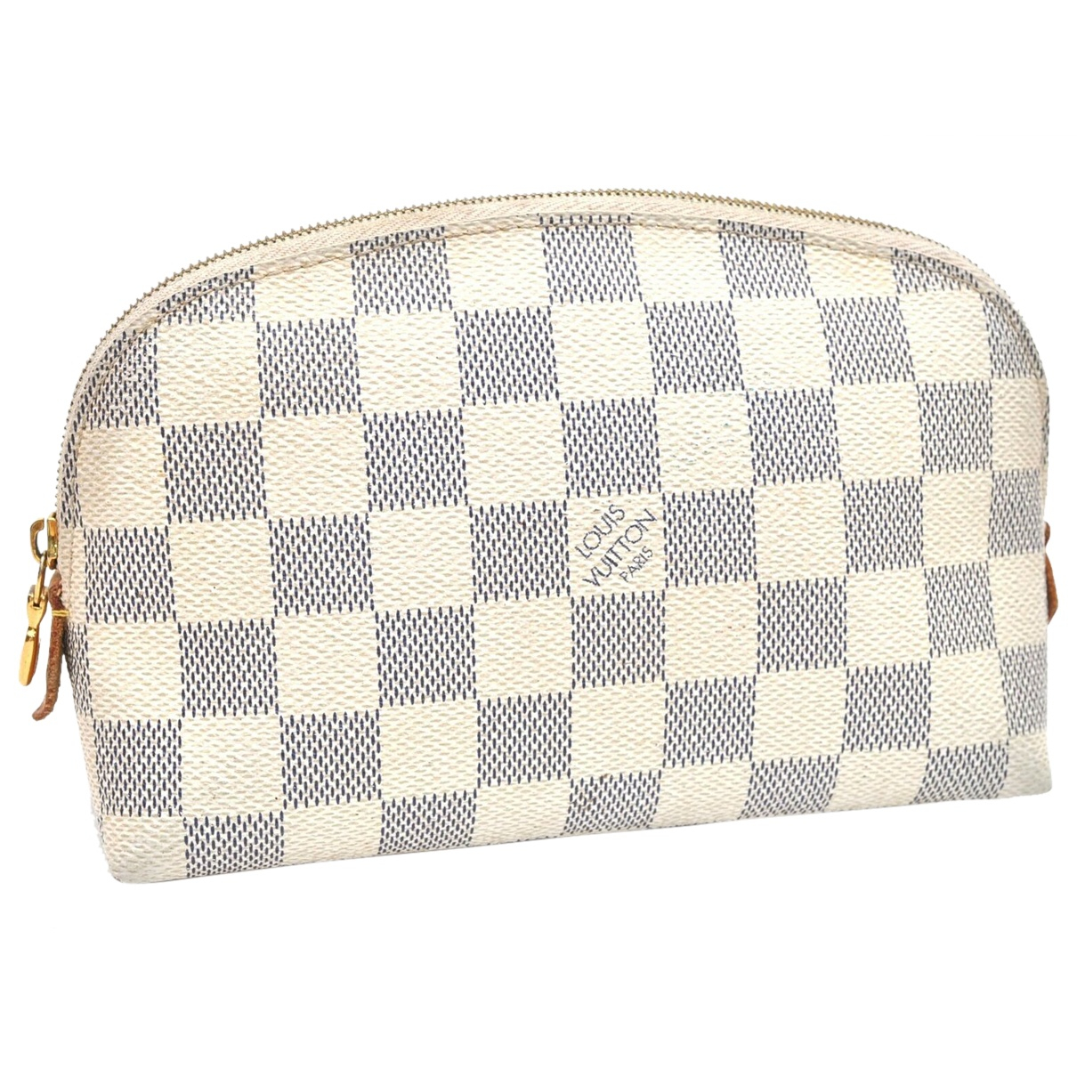 Louis Vuitton \N Clutch in  Weiss Leinen