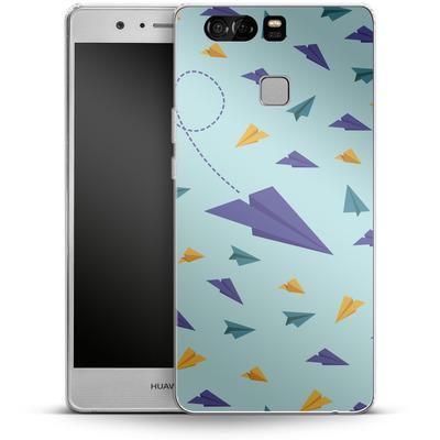 Huawei P9 Silikon Handyhuelle - Paper Planes von caseable Designs