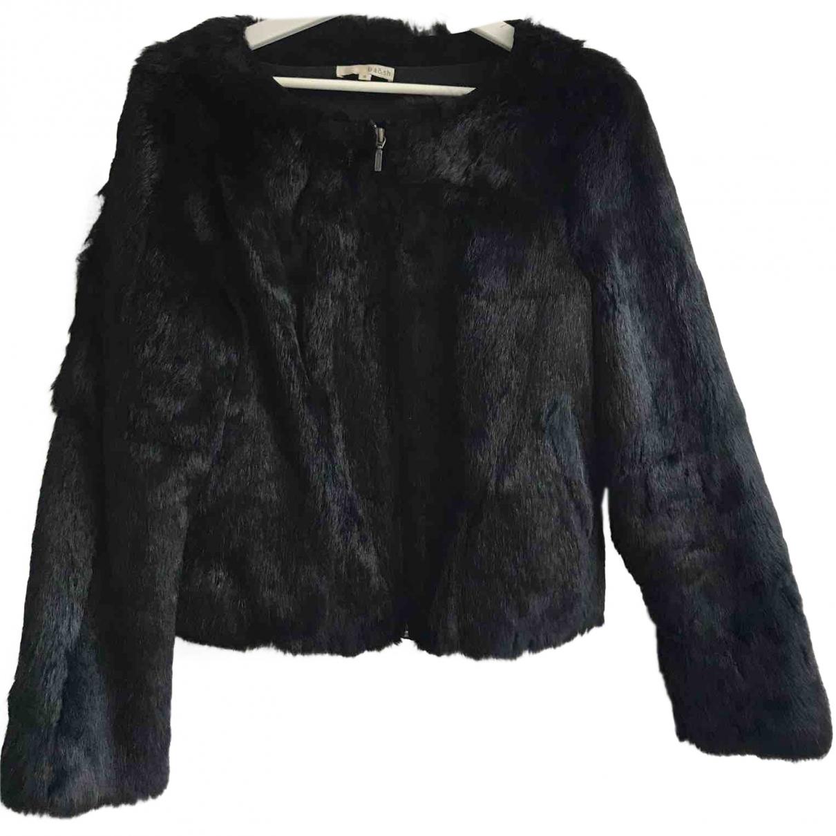 Ba&sh \N Black Rabbit coat for Women 38 FR
