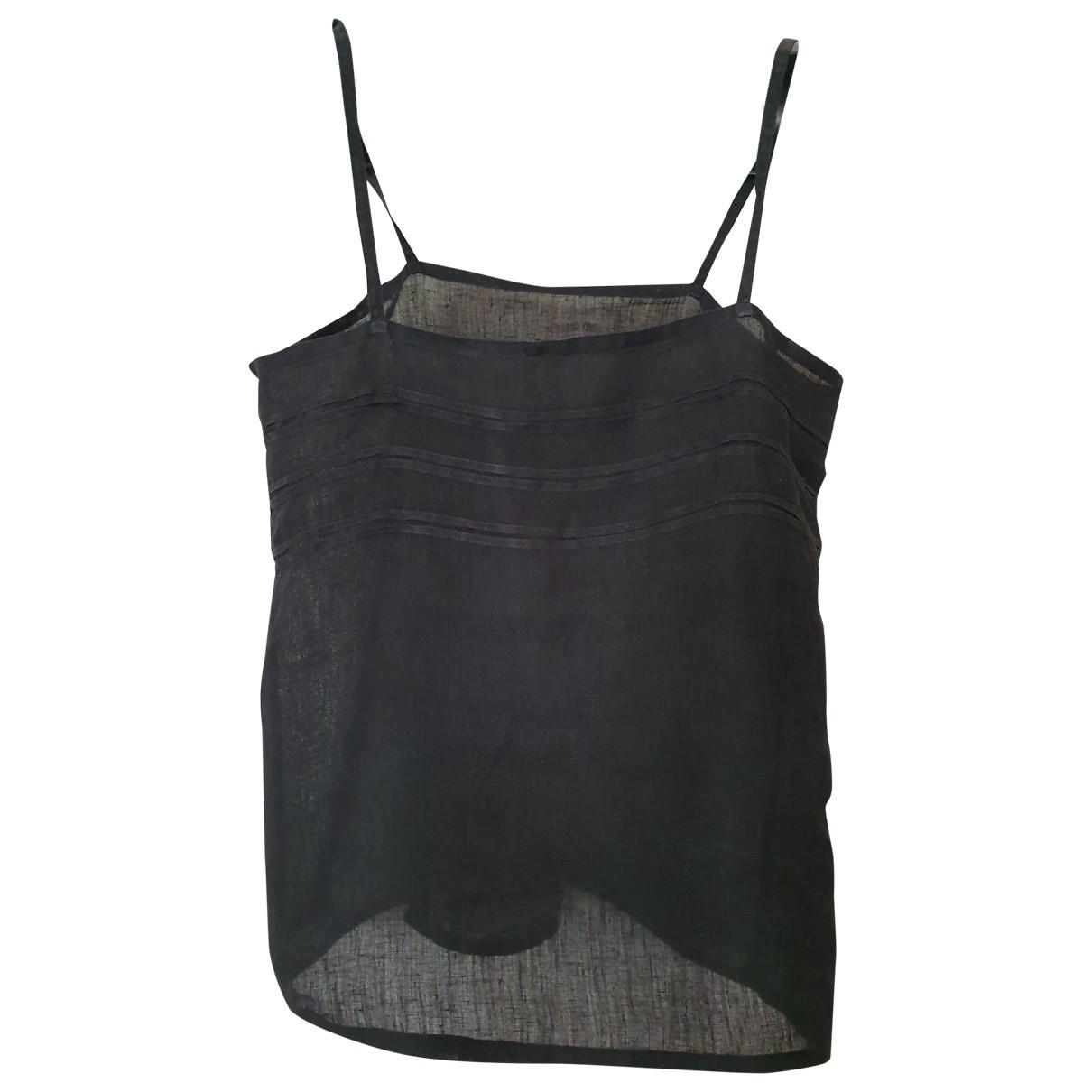 Non Signé / Unsigned \N Black Linen  top for Women 42 IT