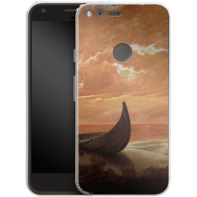 Google Pixel Silikon Handyhuelle - Bill Plank - Sunset Voyager von TATE and CO