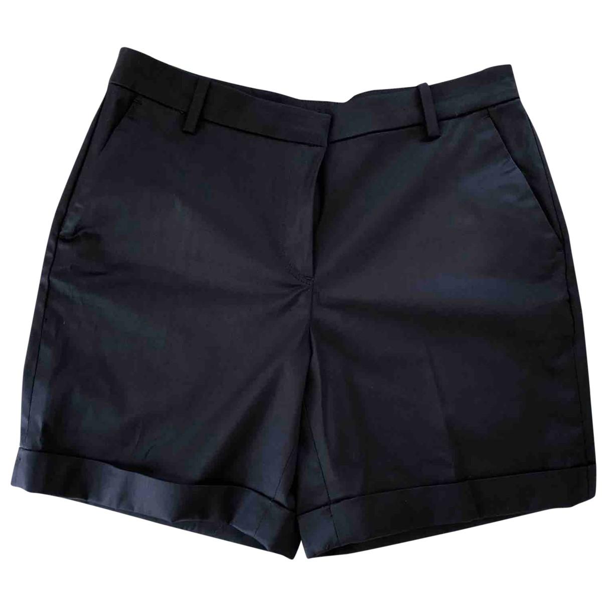Massimo Dutti \N Navy Cotton Shorts for Women M International